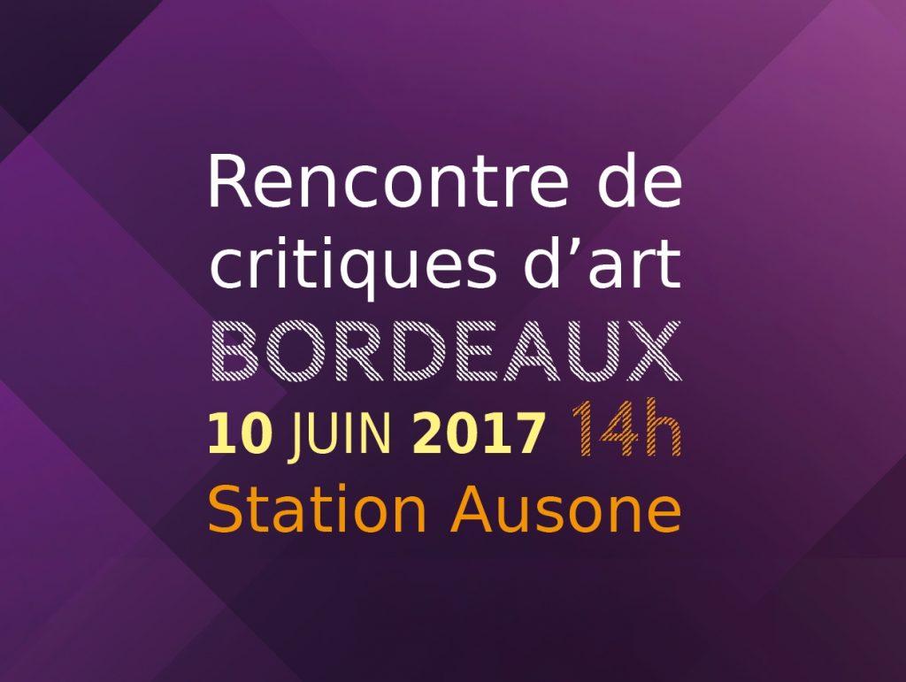 Rencontre de critiques d'art  #2ème édition / Samedi 10 juin 2017